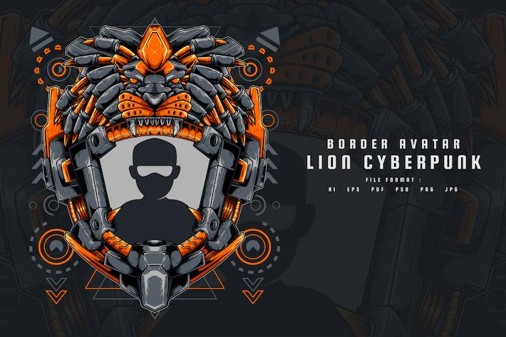Border Avatar Lion Cyberpunk