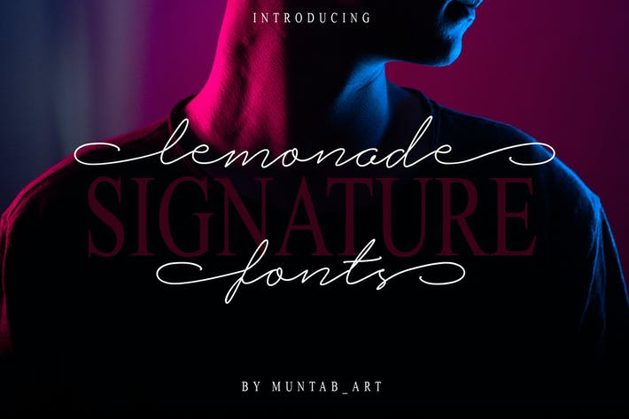 Thumbnail for Lemonade Signature Font