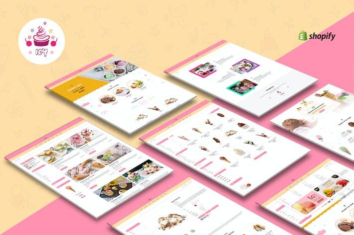 Thumbnail for Icy - Ice Cream Sectioned Shopify Theme