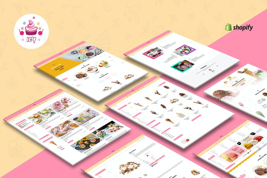 Icy - Ice Cream Sectioned Shopify Theme
