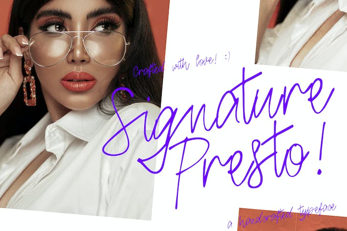 Thumbnail for Signature Presto Typeface