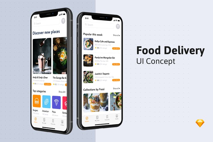 Thumbnail for Food Delivery UI Kit -  Home screen