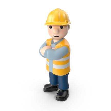 Trabajador cruzado brazos