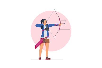 Archery Athlete Illustration