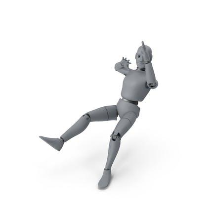 Friendly Robot Blown Back