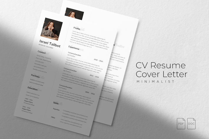 Thumbnail for Israel Talbot - CV Resume Template