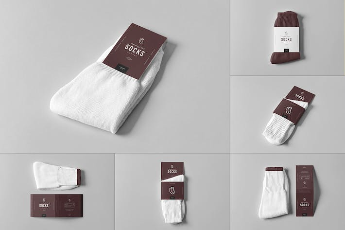 Thumbnail for Socks Package Mock-up