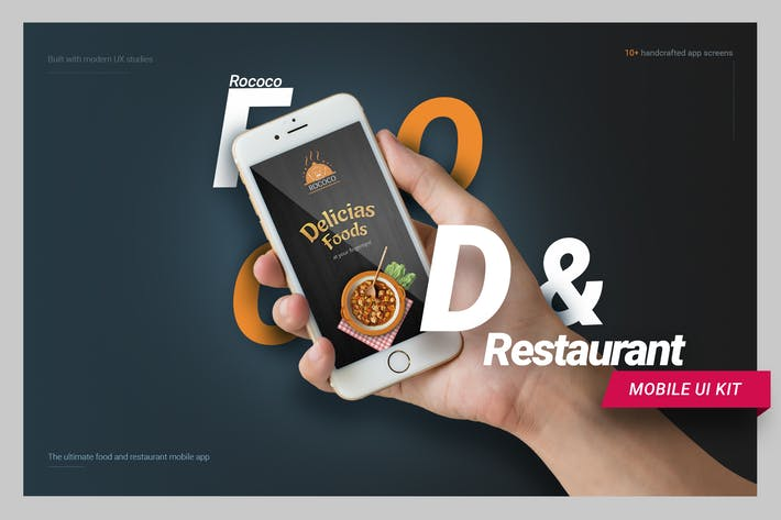 Thumbnail for Restaurant and Food Mobile UI kit