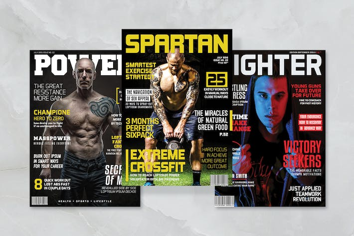 Thumbnail For 3 Sport Magazine Covers