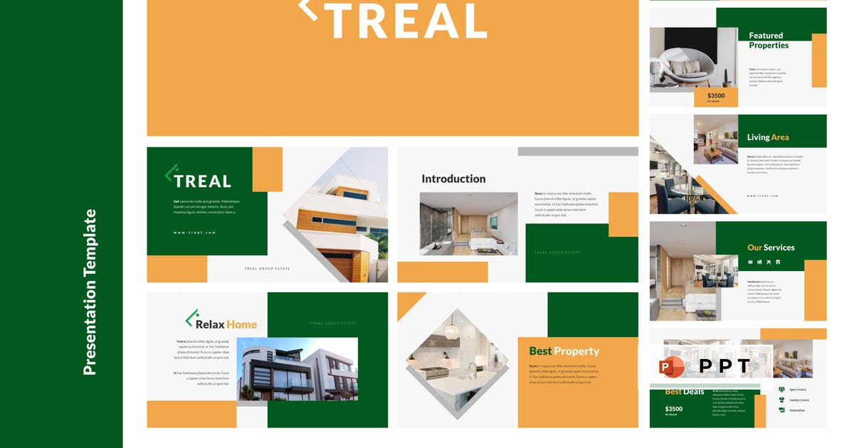 Download TREAL - Real Estate Powerpoint Template by inipagi
