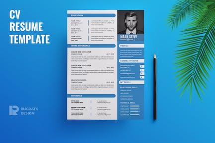 Minimalist CV  Resume R34 Template