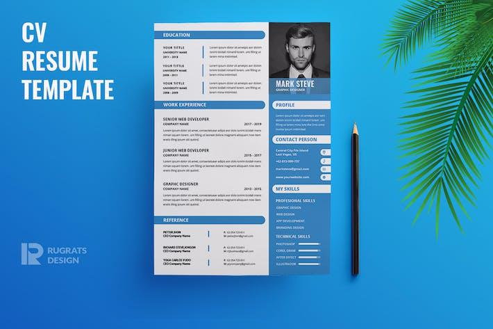 Thumbnail for Minimalist CV  Resume R34 Template