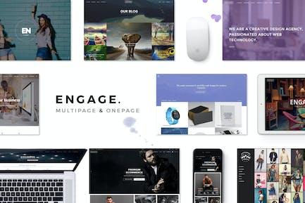 Engage - Kreatives Mehrzweck-HTMLThema