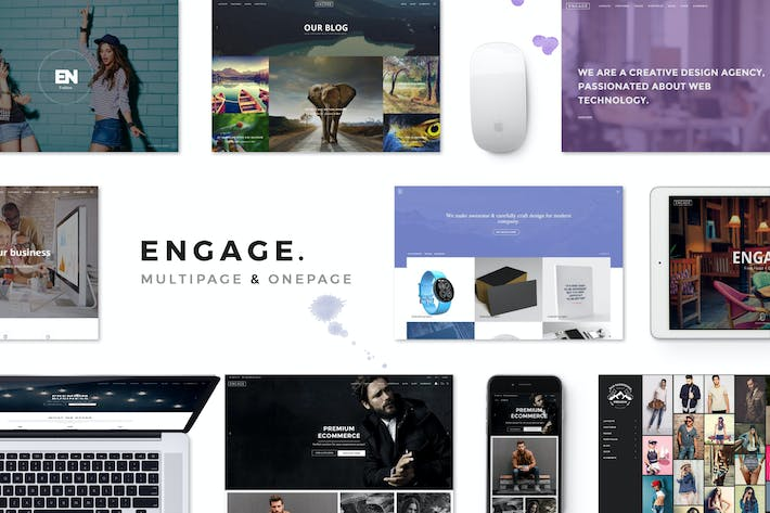 Thumbnail for Engage - Creative Multipurpose HTML Theme