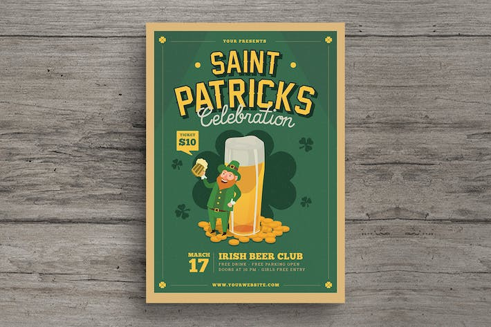Thumbnail for St Patrick's Beer Event Flyer