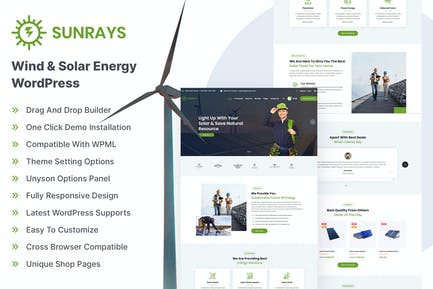 Sunrays – Solar Power & Green Energy WordPress the