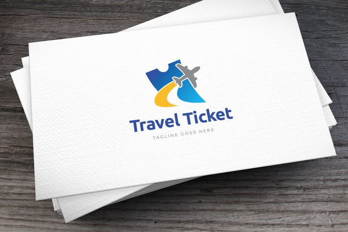 Thumbnail for Travel Ticket Logo Template