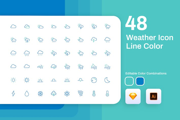Thumbnail for Weather Icon Line Color