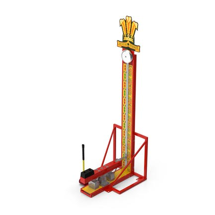 High Striker Strength Tester Game with Mallet