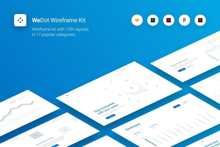 Thumbnail for WeDot - Wireframe UI Kit