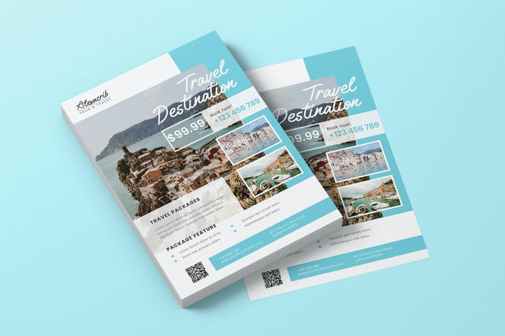 Thumbnail for Viaje de vacaciones AI y PSD Folleto