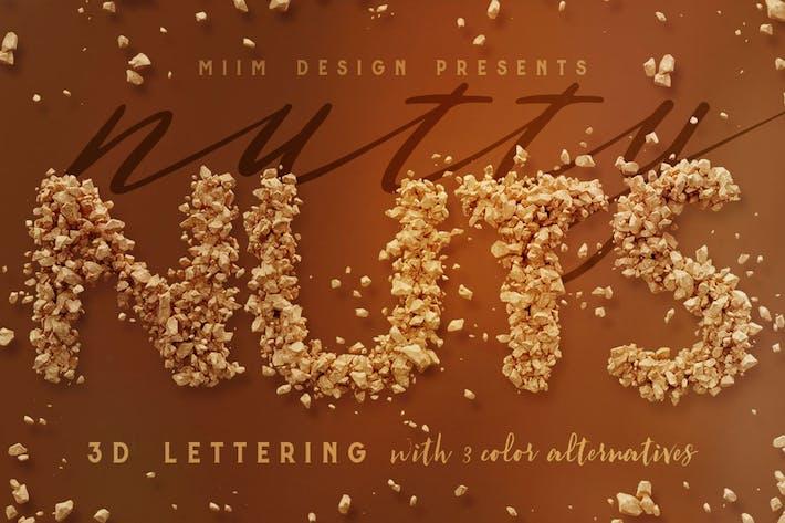 Nutty Nuts - 3D Schriftzug