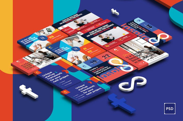 Thumbnail for Fresh Business Startup Facbook Ad PSD Template