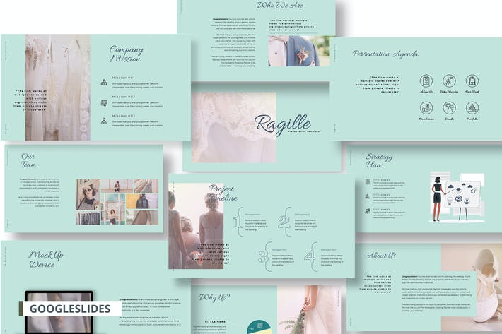Thumbnail for Ragille Pitch Deck Agency Google Slide Template