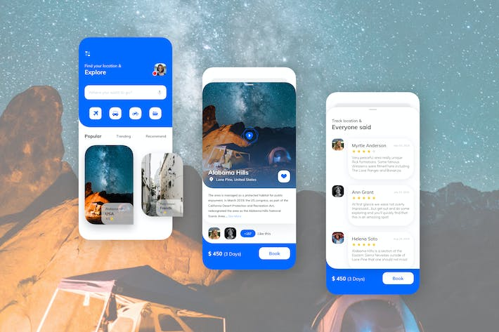 Thumbnail for Travel Mobile UI Kit - TG