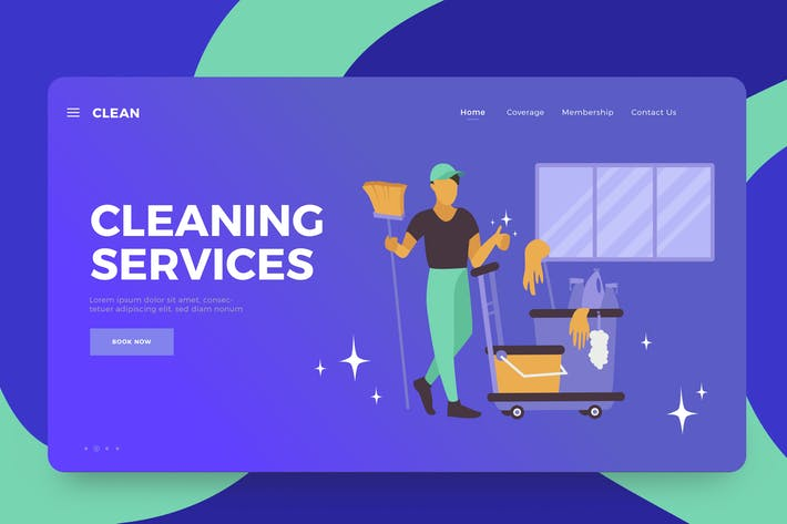 Thumbnail for Cleaning Services Vector Illustration