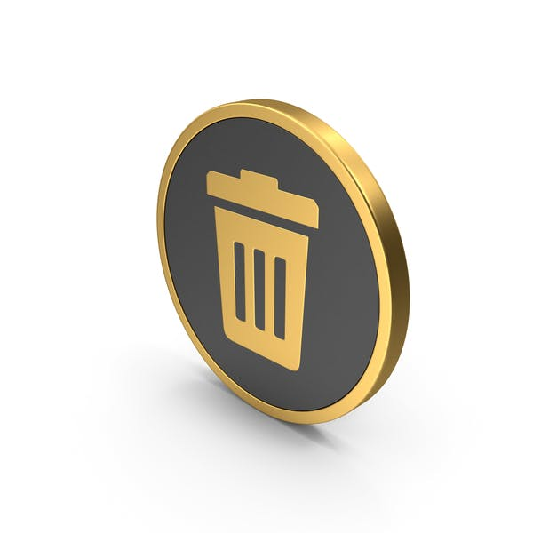 Gold Trash Icon