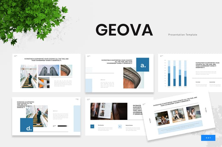 Thumbnail for Geova - Government Institution Keynote Template