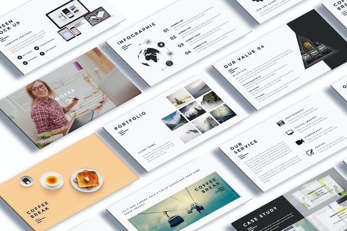 moksa creative agency powerpoint presentation by giantdesign on