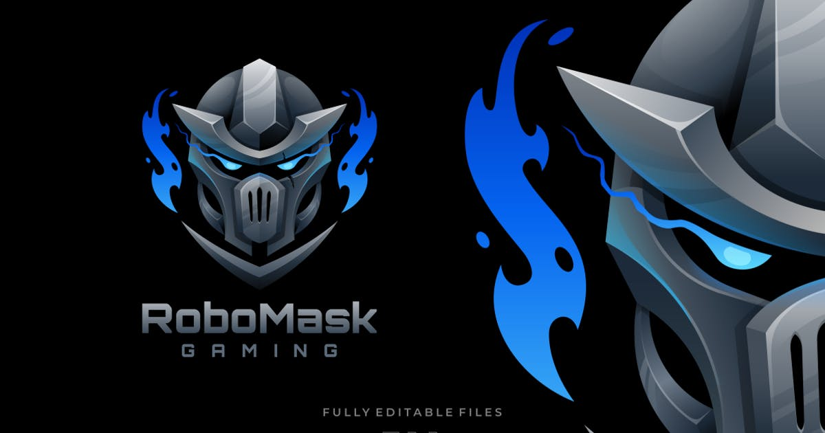 Download Robot Mask Sports and E-sports Logo by ivan_artnivora