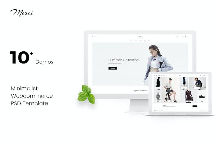Thumbnail for Merci | Minimalist eCommerce PSD Template
