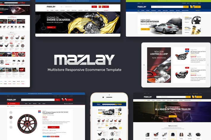 Thumbnail for Mazlay - Car Accessories OpenCart Theme