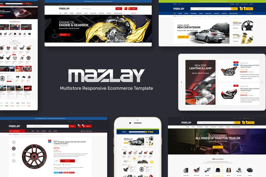 Mazlay - Car Accessories OpenCart Theme