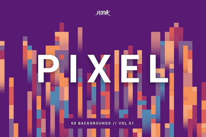 Cover Image For Pixel | Colorful Motion Square Backgrounds | V. 01