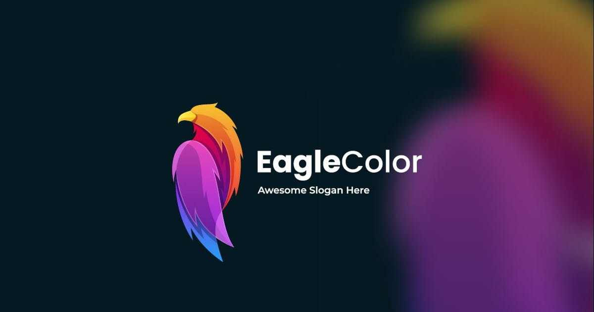 Download Eagle Abstract Colorful Logo Template by ivan_artnivora