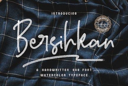Bersihkan - Watercolor Signature SVG