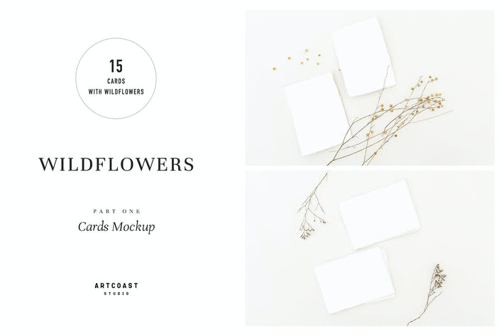 Wildflowers Cards Mockup