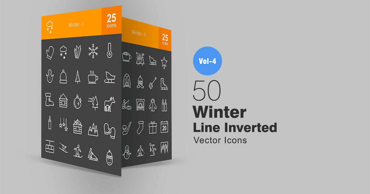Download 50 Winter Line Inverted Icons by Unknow