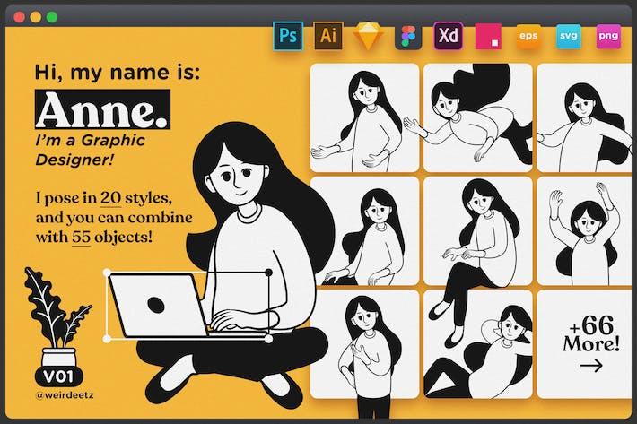 Thumbnail for Character Set V01 Anne