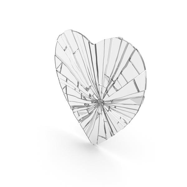 Corazón plano agrietado