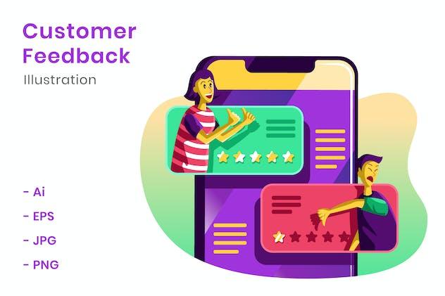 Customer Feedback Illustration