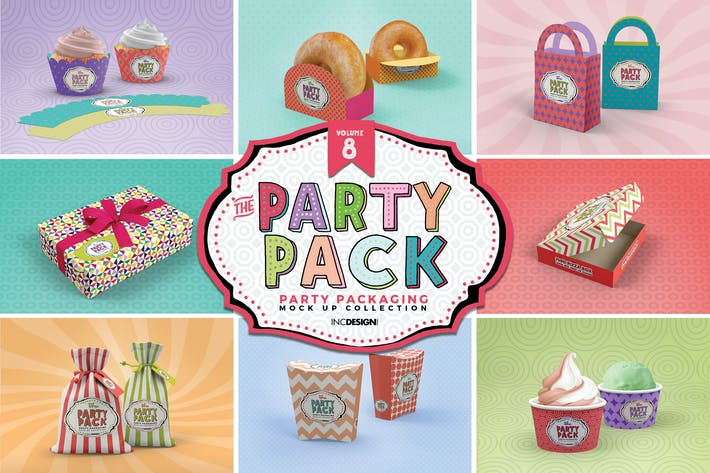 Thumbnail for Party Packaging Mockups Vol.8