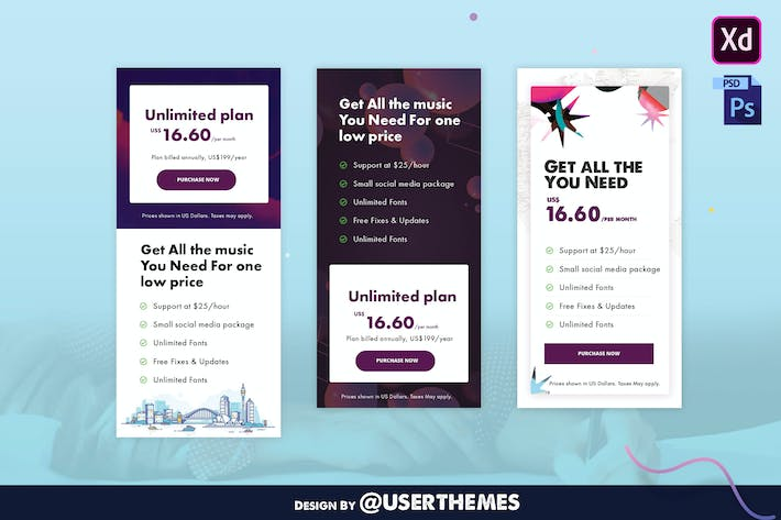 Thumbnail for Business Pricing Table UI Template