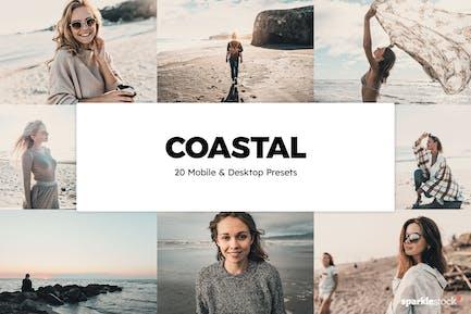 20 Coastal Lightroom Presets & LUTs