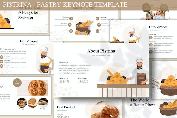 Thumbnail for Pistrina - Шаблон Keynote для кондитерских изделий
