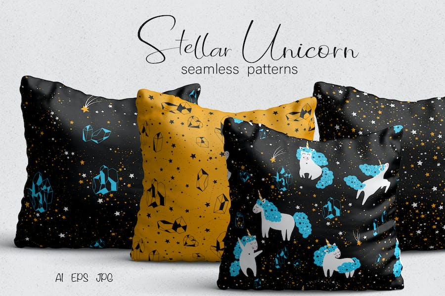 Unicorn Seamless Patterns